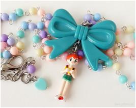 Pokemon Misty Necklace, Pastel Rainbow, Beaded Rosary Chain - Gamer Girl... - $36.00