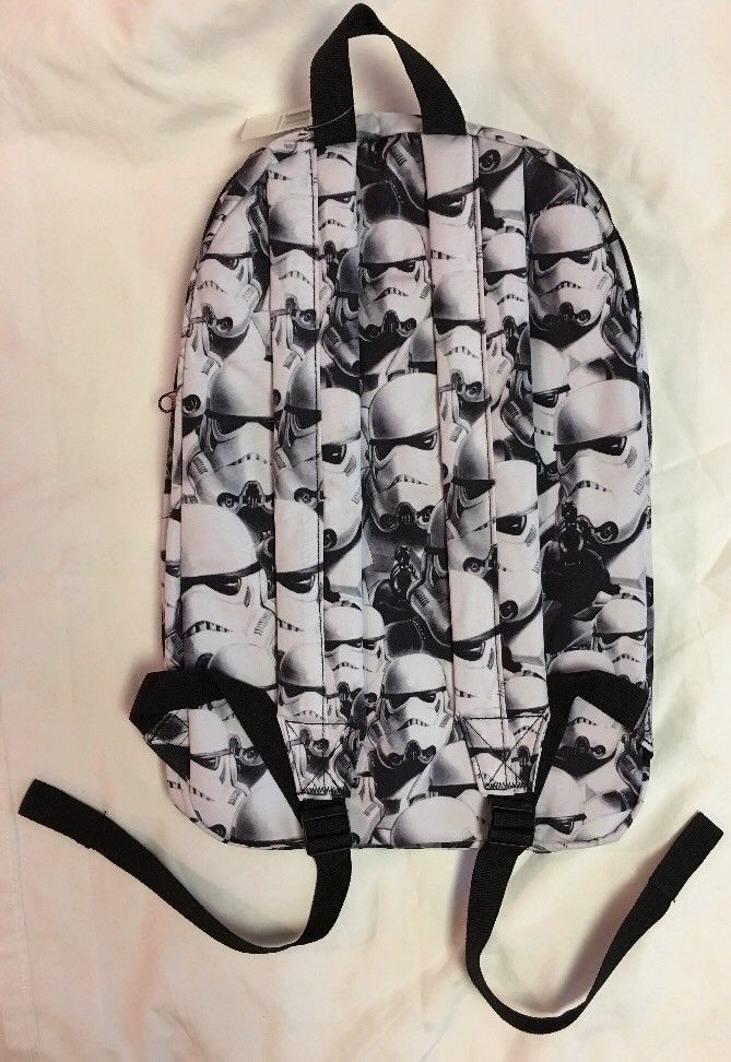 Brand New Star Wars Stormtroopers Backpack Black/White Disney