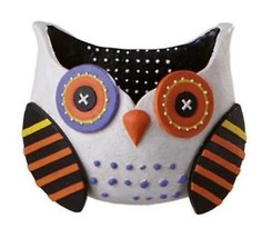 """Midwest 10"""" Whimsical White Owl Wall Pocket Halloween Decoration - €29,72 EUR"""