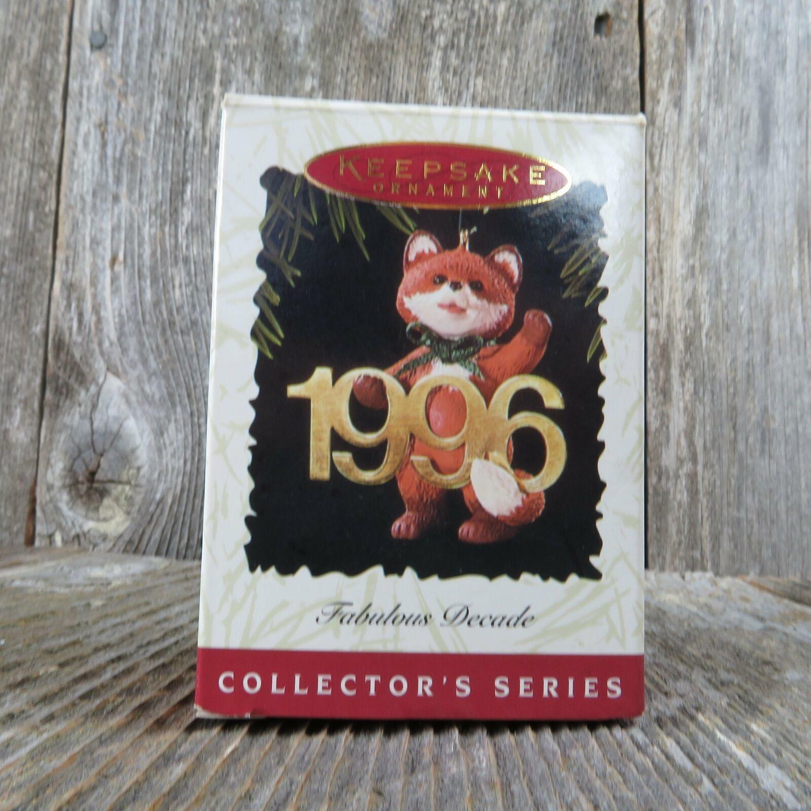 Vintage Red Fox Hallmark Keepsake Christmas Ornament 1996 Fabulous Decade image 8
