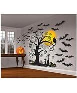 Halloween Cemetery Scene Setters 65'' x 32'' Paper & Plastic Decorating Kit - $13.81