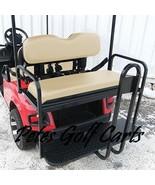 Rear Flip Seat Kit for EZGO Golf Cart TxT Model In Tan Black White or Oy... - $284.99