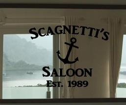 "Custom Family Nautical Ship Anchor Saloon Vinyl Wall Sticker Decal 22""h ... - $29.99"