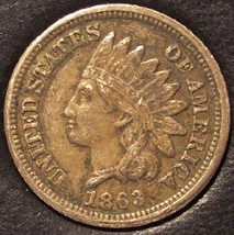 1863 CN Indian Head Cent XF40 #0017 - $44.99