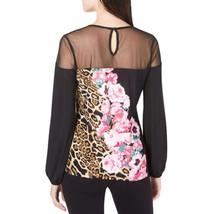 nwt Leopard Flower Top L - $32.00