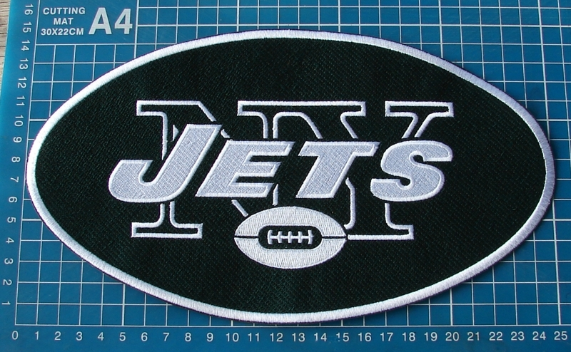 "Primary image for NEW YORK JETS FOOTBALL NFL SUPERBOWL 10"" HUGE JERSEY PATCH EMBROIDERED"