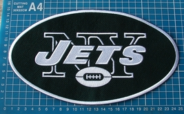"NEW YORK JETS FOOTBALL NFL SUPERBOWL 10"" HUGE JERSEY PATCH EMBROIDERED - $20.00"