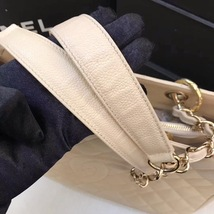 AUTHENTIC CHANEL QUILTED CAVIAR GST GRAND SHOPPING TOTE BAG BEIGE GHW image 7