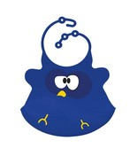 Blue Owl Silicone Baby Bib - Reusable Toddler Bib - CPSIA Compliant Bib - $17.99
