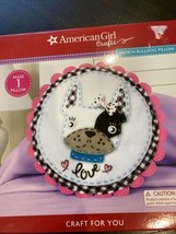 American Girl Crafts Make 1 Pillow French Bull Dog Pillow - $14.36