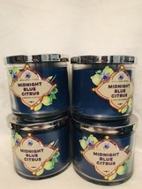 4 Bath Body Works Large 3-Wick Candle Midnight Blue Citrus - $79.00