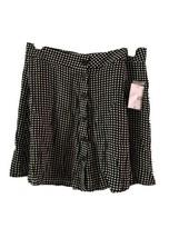 Forever 21 skirt size M short fit flare black cream squares NWT  mini - $15.84
