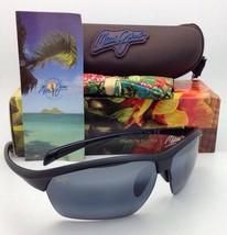 MAUI JIM Sunglasses STONE CRUSHERS MJ 429-2M Matte Black w/Polarized Gre... - $199.95