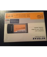 New Netgear WG511v2 54 Mbps Wireless PC Card - $10.00