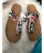 Blowfish Malibu Floral Sandal Flip Flop  Size 7 - $39.59