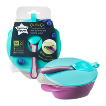 Tommee Tippee 2 Feeding Bowls with Spoon and Lid - $26.96