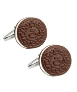 COOKIE CUFFLINKS Novelty Filled Chocolate Biscuit Food Foodie NEW w GIFT... - $9.95