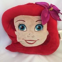 Disney Princess Ariel Little Mermaid Face Plush Pillow Retired Store Exl... - $19.99