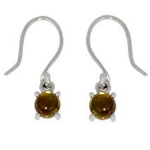 Shine Jewel 925 Sterling Silver 5 MM Round Green Tourmaline Dangle Hook ... - $16.19