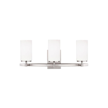 Alturas 3-Light Brushed Nickel Vanity Light with LED Bulb - new (hd) - $187.22
