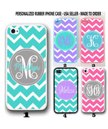CUSTOM PERSONALIZED TEAL PINK PURPLE CHEVRON MONOGRAM CASE FOR IPHONE X ... - $11.99+