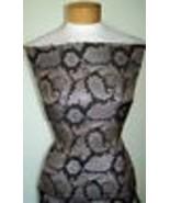 Taupe and Brown Reversable Metallic Showmanship Brocade Fabric 1 Yard 18... - $40.00
