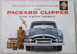 1953 Packard Clipper deale full color promotional poster excellent condi... - $19.99