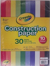 """Crayola Construction Paper 9"""" x 12"""" 10 Colors 30 Sheets/Pack - $2.96"""