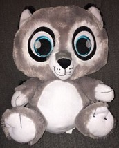 Peek-A-Boo Toys Bright Eyes Plush Grey Raccoon 17 inch Soft Sewn Eyes An... - $21.99