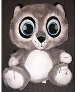 Peek-A-Boo Toys Bright Eyes Plush Grey Raccoon 17 inch Soft Sewn Eyes An... - $21.99