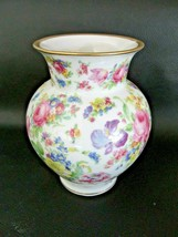 1950s Thomas/Rosenthal Germany Floral Vase Gold Edge - $24.74