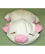 "14"" MICROBEAD PIG Anime Pillow SLEEPING Closed Eyes Plush Stuffed Animal... - $44.55"