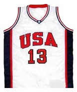 Antonia Mc Dyess #13 Team USA Men Basketball Jersey White Any Size - $34.99