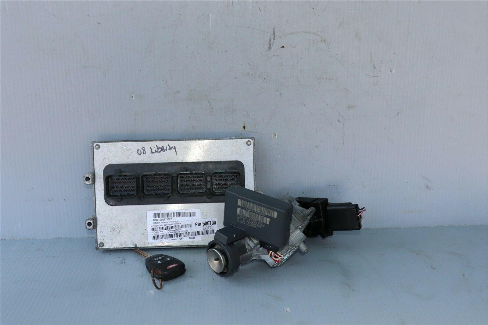 08 Jeep Liberty 3.7L 4x2 AT ECM ECU Ignition Switch Key Immobilizer P05094776AH