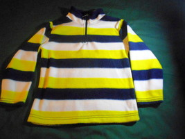 Boy's Size 4 Children's Place Est 1989 Yellow Black Striped Pull-Over Sweater - $2.99