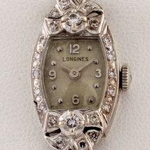 Longines 14k White Gold and Diamond Women's Dress Watch Gorgeous - $2,474.92