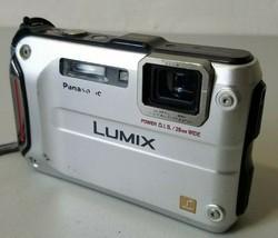 Panasonic LUMIX DMC-TS4 12.1MP Waterproof Tough Digital Camera - Silver *TESTED* - $49.49