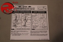 63 Chevy All Passenger Body Styles Jack Instructions Decal - $9.25