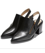 Womens Cole Haan Vicky Slingback Bootie - Black Leather, Size 9 M [W19451] - $119.99