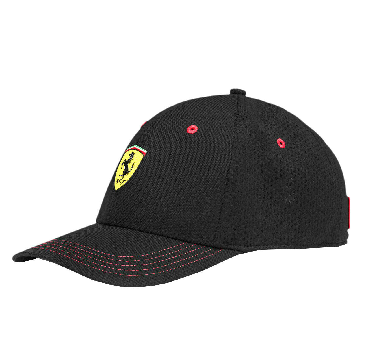 Puma Ferrari Sports Car Logo Wide Brim Dad Cap Snap Back Black Baseball Hat