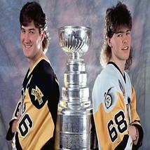 91-92 Penguins Mario Lemieux Jaromir Jagr Stanley Cup Color 8 X 10 Photo... - $6.99