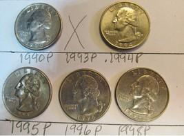 UNITED STATES QUARTERS 5 PIECES LOT 56 - $2.57