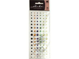 Sticko Shimmering Halloween Dots Dimensional Stickers, 90 Pieces