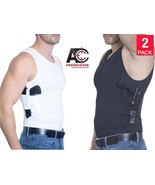 7e0bbf194f7189 AC UNDERCOVER Tank Top Concealed Carry Clothing Holster (Black/White 2-P.
