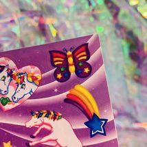 Mint Vintage S123 Markie Unicorn Butterflies Hearts Stars *Perfect HTF image 4