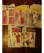 Costume Sewing Patterns Simplicity McCalls Adult Children Lot of 5 Vintage - $14.80
