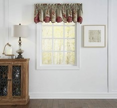 "Waverly Scallop Valances for Windows - Fresco Flourish 60"" x 16"" Short C... - $29.69"