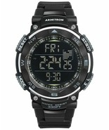 Armitron Men's Digital Black Silicone Strap Watch 51mm 40-8254BLK - $34.65