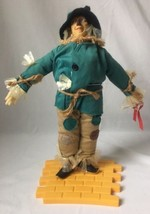 Wizard of Oz Scarecrow Doll with Yellow Brick Road Stand by Hamilton Pre... - $29.95