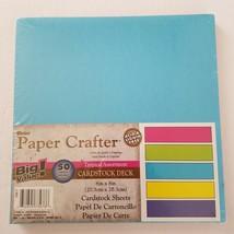 "Darice Paper Crafter Tropical Assortment Cardstock Deck 8""x 8"" Big Value - $8.99"